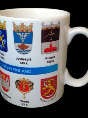 Muki Suomen suurimmat kaupungit, vaakunat
